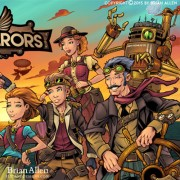 Steampunk family character design and robots