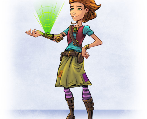 Concept art Steampunk character