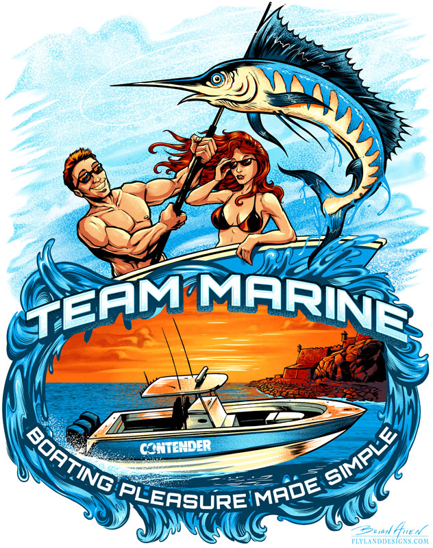 New T-Shirt design for Team Marine - Flyland Designs, Freelance ...