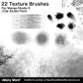 Brush Presets for custom Texture Brushes for Manga Studio 5