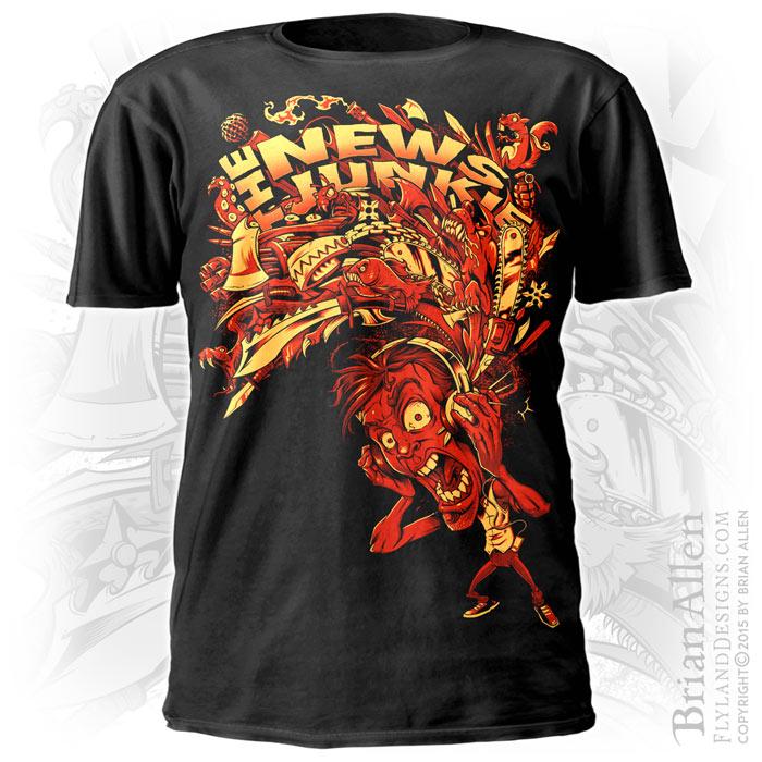 Silk-Screen T-shirt Design of Dangerous Items for News Website ...