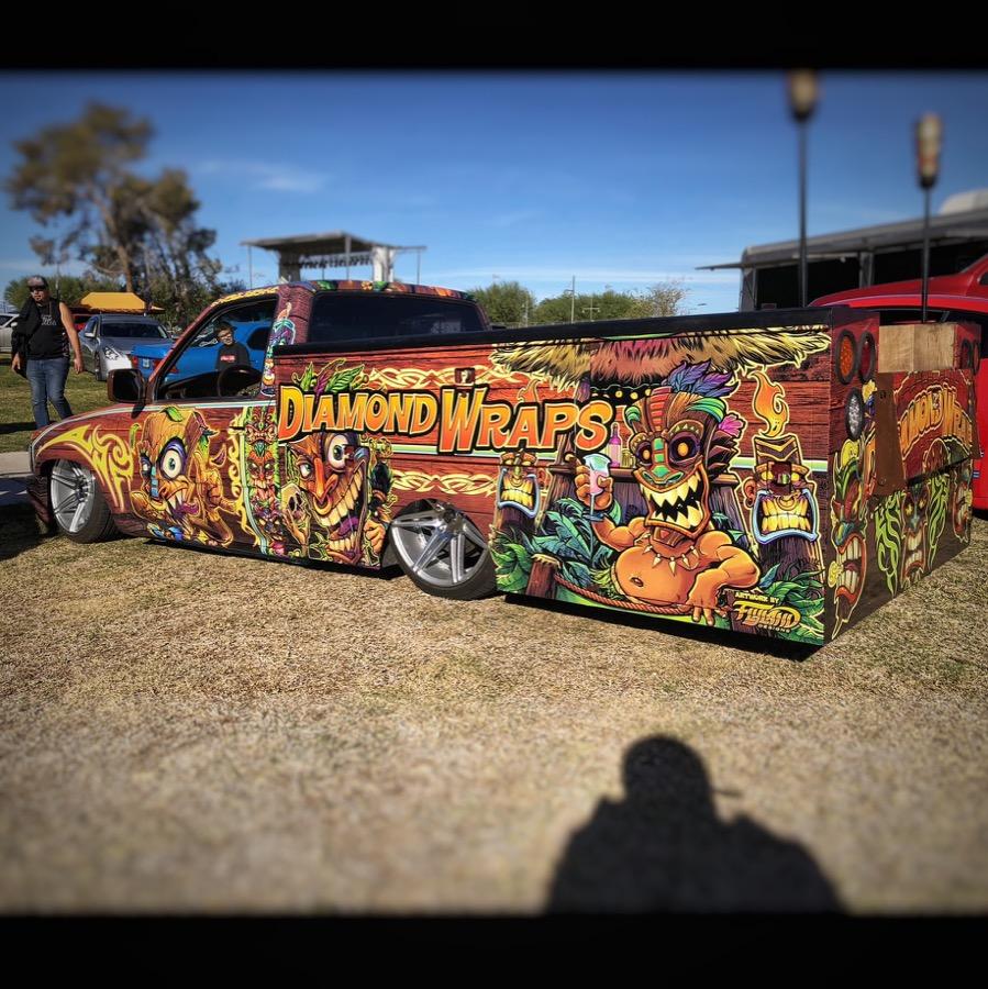 Tiki Truck Wrap