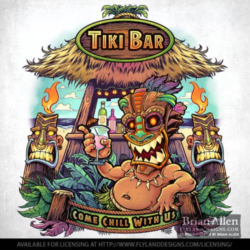 Tiki bar t-shirt licensing