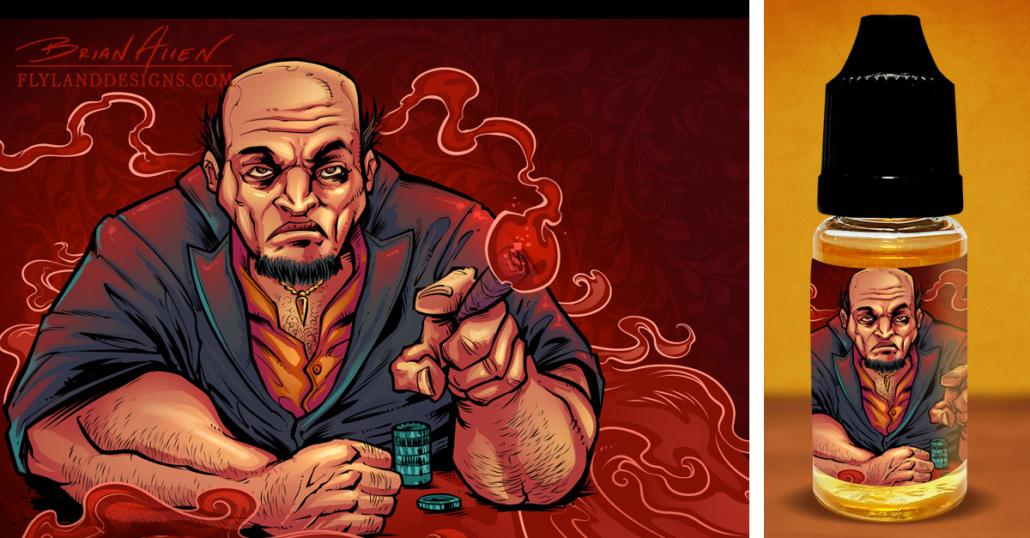 Vaping E-Juice Custom Labels With Mafia Theme