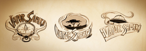 Vapor-Safari-logo-sketches