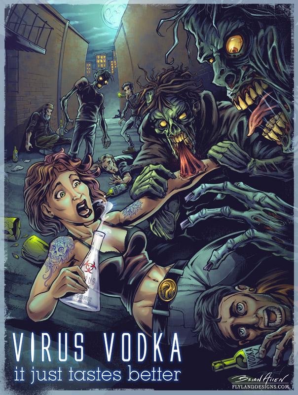 Zombie Apocalypse Vodka Poster