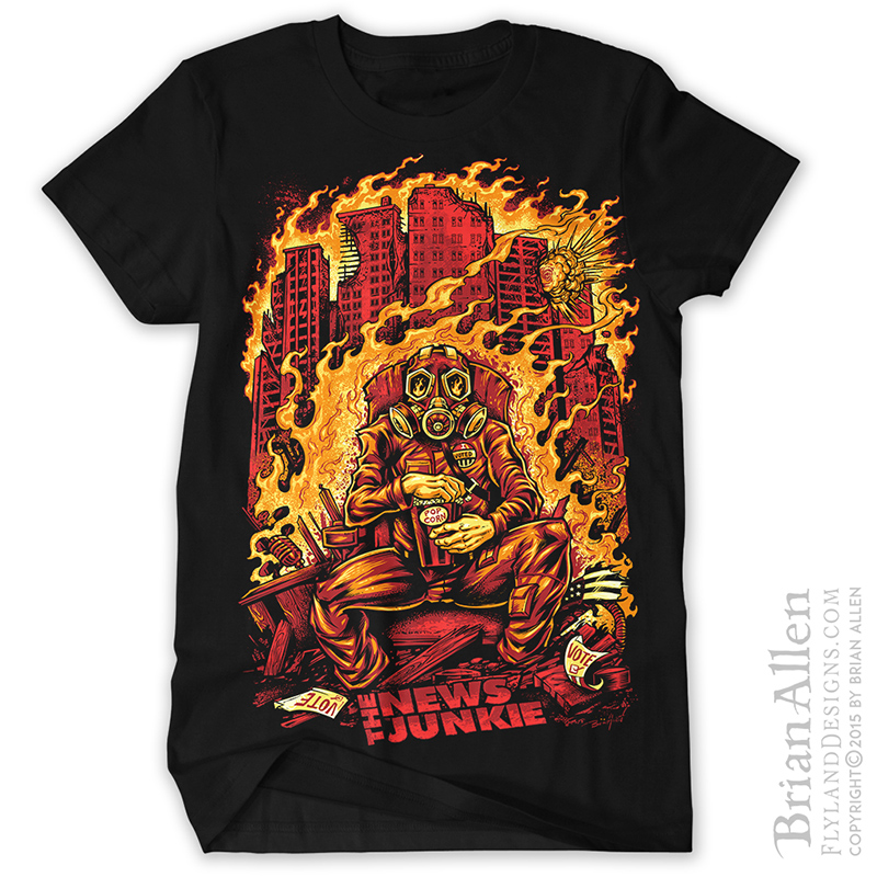 T shirt design illustrator freelance illustrator brian allen for Restaurant t shirt ideas