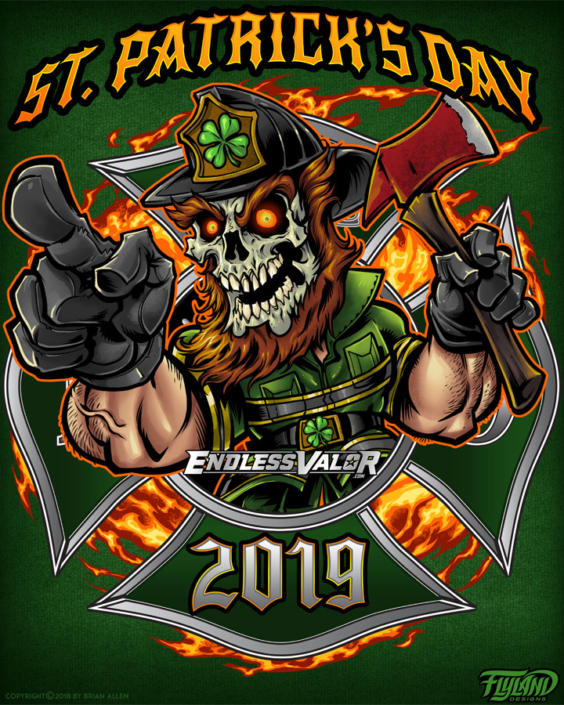 St Patricks Day Firefighter 2019