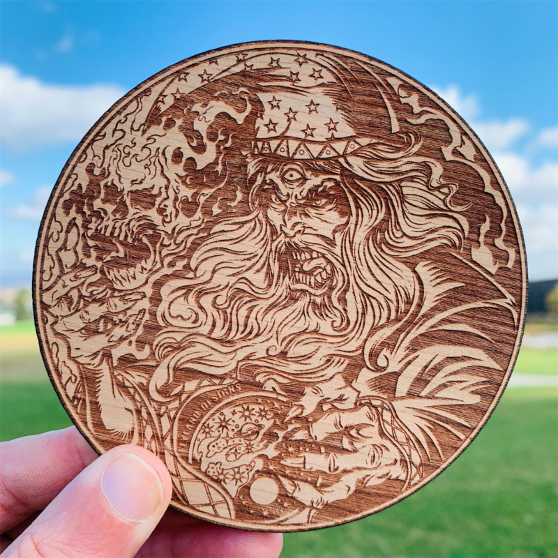 Wooden Disc Golf Disc Marker, La