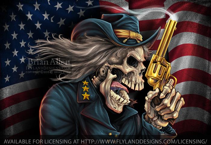 Yankee Pride-Civil Wark Skull Ge