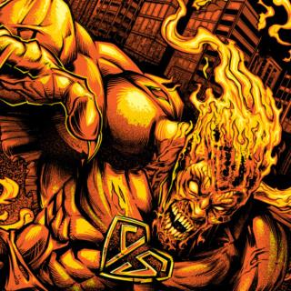 Evil Superhero T-Shirt Illustrat