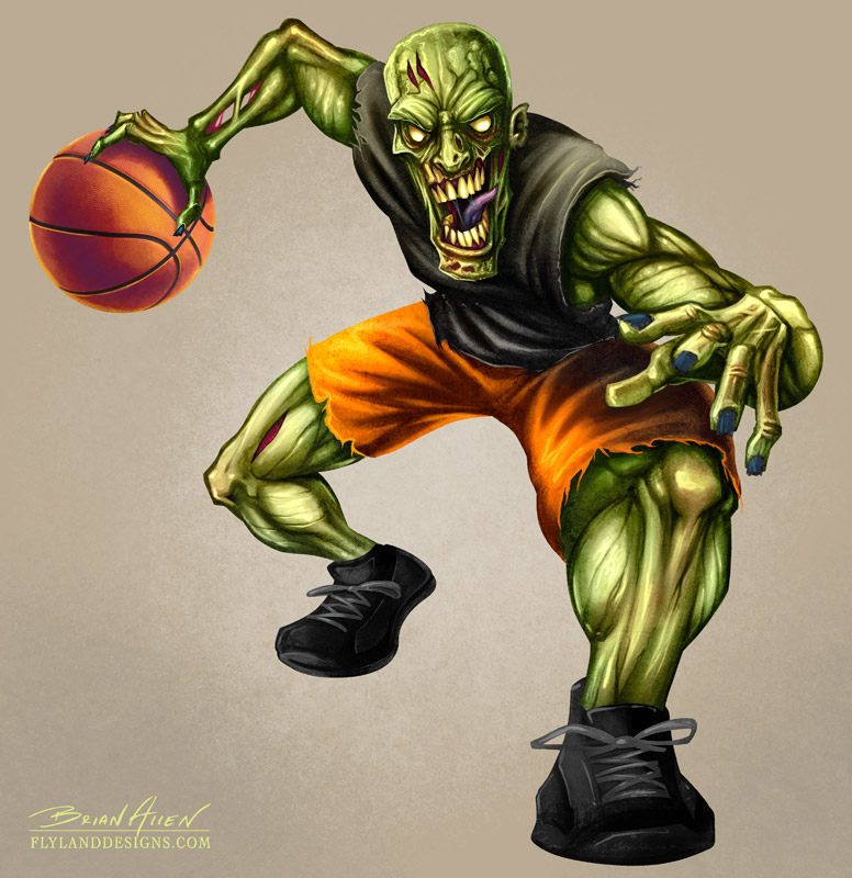 Character Design Zombie : Zombie basketball player flyland designs freelance