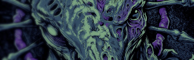 Zombie Buck T-Shirt Illustration Detail