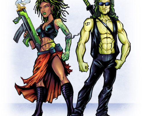 Comic book character designs
