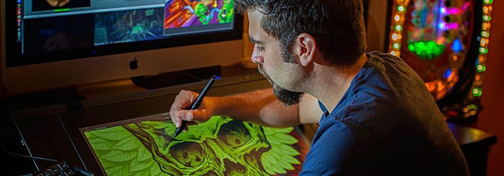 Digital artist working at Wacom Cintiq