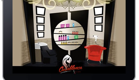 Casablanca Salon web design splash page