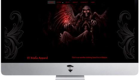 Website graphic design for apparel website