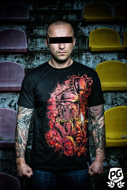 Ultra wearing t-shirt design for PG Wear