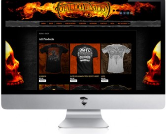 Total Domination Website design graphics